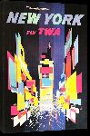 Toiles imprimées Affiche ancienne TWA New York