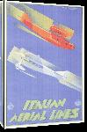Toiles imprimées Affiche ancienne italian airline