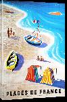 Toiles imprimées Affiche ancienne plage de France 1955
