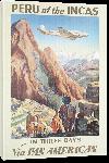 Toiles imprimées Affiche ancienne le Pérou des Incas via pan American
