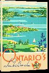 Toiles imprimées Affiche ancienne Ontario's Lakelands, Canadian Railways