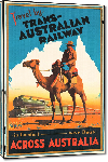 Toiles imprimées Affiche ancienne Travel by Trans-Australian Railway