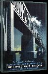 Toiles imprimées Affiche ancienne publicité A Link Between Great Britain and Scandinavia, The Little Belt Bridge, Danish State Railways