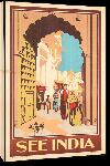 Toiles imprimées Affiche ancienne publicité See India