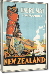 Toiles imprimées Affiche ancienne Welcome to New Zealand