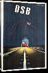 Toiles imprimées Affiche ancienne DSB Danish Rail Speed Train Poster