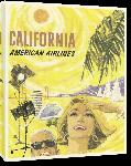 Toiles imprimées Affiche ancienne publicité California, American Airlines