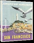 Toiles imprimées Affiche ancienne publicité San Francisco, American Airlines