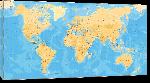 Toiles imprimées Carte du monde effet ancien vintage