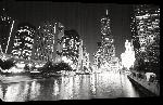 Toiles imprimées Poster de Chigago dans la nuit