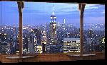 Toiles imprimées Affiche vue sur Manhattan