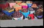 Toiles imprimées Affiche des souks de Marrakech