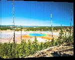 Toiles imprimées Affiche vue du parc Yellowstone au Etat Unis
