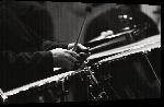 Toiles imprimées Photo noir & blanc instrument de musique Batterie