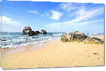 Toiles imprimées Photo Stones in ocean