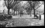 Toiles imprimées Photo noir et blanc d'une place à Amsterdam