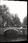 Toiles imprimées Photo noir et blanc pont d'amsterdam