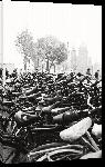 Toiles imprimées Photo noir et blanc vélo amsterdam