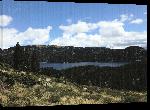 Toiles imprimées Affiche du lac des Bouillouses montagne Pyrénées Orientales