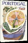 Toiles imprimées Affiche publicitaire vintage Portugal Fly TWA