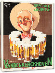 Toiles imprimées Affiche publicité vintage Brasserie Vandenkerckhoven by OK Gerard