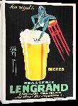 Toiles imprimées Affiche publicité vintage Brasserie Lengrand by G. Piana