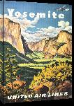 Toiles imprimées Affiche publicitaire vintage Yosemite, United Air Lines