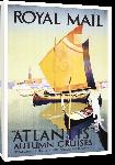 Toiles imprimées Affiche publicitaire vintage Royal Mail Lines, Atlantis Autumn Cruises