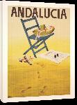 Toiles imprimées Affiche publicitaire vintage Andalousie Espagne : Andalucia Spain