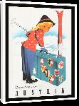 Toiles imprimées Affiche publicitaire vintage Autriche : Winter in Austria
