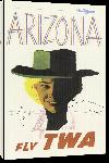 Toiles imprimées Affiche publicitaire vintage Arizona, Fly TWA