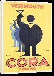 Toiles imprimées Affiche publicité vintage Cora Vermouth Torino