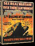 Toiles imprimées Affiche publicité vintage guerre See Real Warfare, Over There Cantonment, 5th Regiment Armory Baltimore