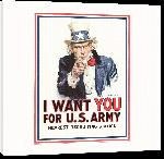 Toiles imprimées Affiche publicité vintage guerre I Want You for US Army, Nearest Recruiting Station