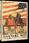 Toiles imprimées Affiche publicité vintage guerre Teamwork Wins, United State Shipping Board Emergency Fleet Corporation