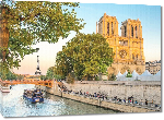 Toiles imprimées Poster photo cathédrale notre dame de Paris