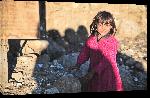 Toiles imprimées Photo d'une petite fille en Afghanistan