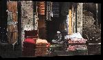Toiles imprimées Photo d'un vendeur de tissu en Afghanistan