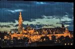 Toiles imprimées Photo de nuit de Budapest en Hongrie