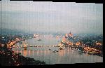 Toiles imprimées Photo vu des hauteurs de Budapest Hongrie