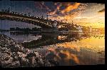 Toiles imprimées Photo du pont de Budapest en Hongrie