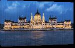 Toiles imprimées Photo parlement de Budapest en Hongrie