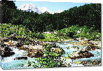 Toiles imprimées Photo rivière en Albanie