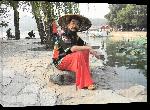 Toiles imprimées Passant au bord du Lac Kunming (Beijing)