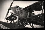 Toiles imprimées Photo sépia d'un avion biplace