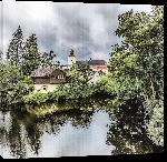 Toiles imprimées Photo maison sur rivière en Allemagne