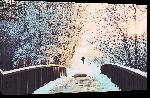 Toiles imprimées Photo pont enneigé en Allemagne