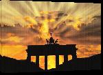 Toiles imprimées Photo coucher de soleil sur la porte brandebourg à Berlin en Allemagne