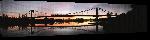 Toiles imprimées Photo coucher de soleil du pont suspendu de Buenos Aire en Argentine
