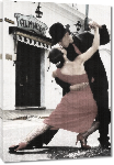 Toiles imprimées Photo danse couple Tango en Argentine